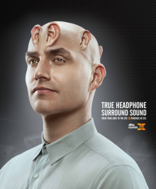 DTS Headphone-X man print ad