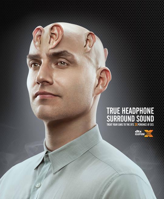 DTS Headphone-X man print ad