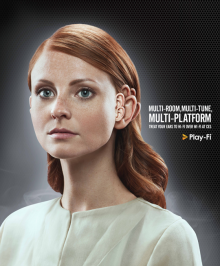 DTS Play-Fi woman print ad