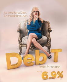 DebT First Entertainment Credit Union Ad