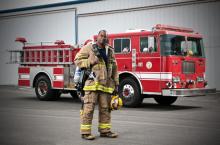 Medtronics Fireman print ad