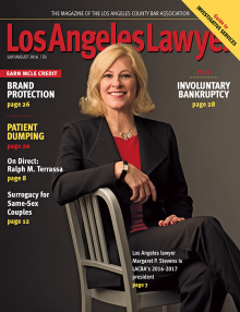 Los Angeles Lawyer Magazine Attorney Margaret P. Stevens