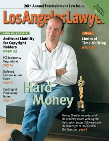 L A Lawyer Magazine - Nicolas Chartier