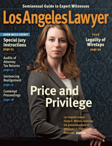 LA Lawyer April 2012 cover shot