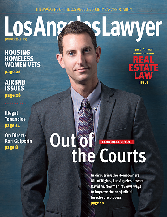 Los Angeles Lawyer Magazine Attorney David M. Newman