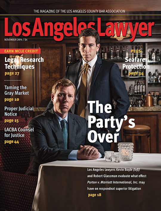 L A County Bar Lawyer Kevin Boyle and Robert Glassman