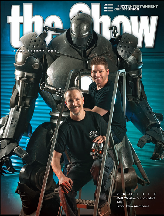 First Entertainment Credit Union The Show issue 31 cover shot Matt Winston and Erich Litoff