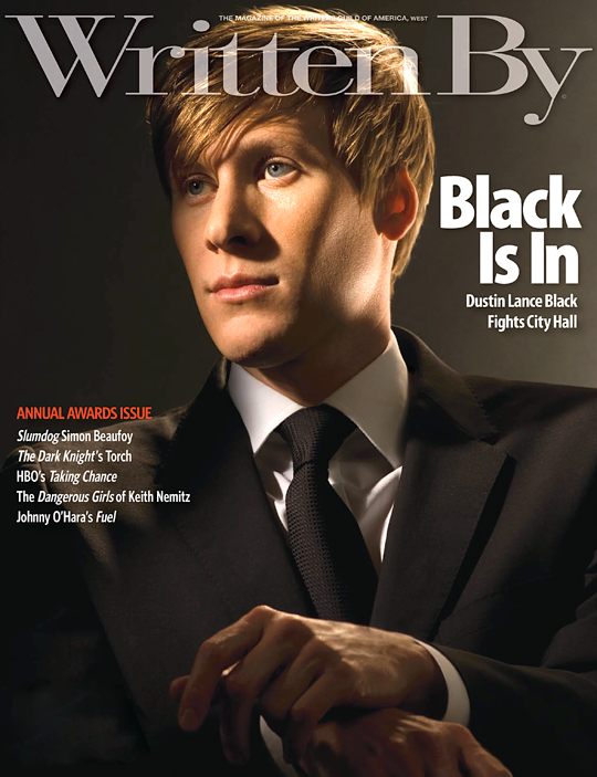 Written By cover shot Dustin Lance Black