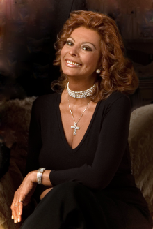 Actress Sophia Loren portrait